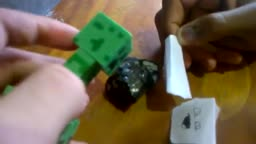 Creeper finds obsidian