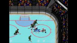NHL 94 - Empty Net Goal - Sega Genesis Gameplay