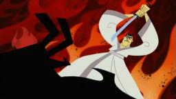 Lupin the 3rd hit aku with a hammer