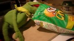 kermit eating chips because why not