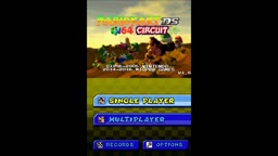 Mario Kart DS N64 Circuit New Title Screen Graphics and Full Title Theme