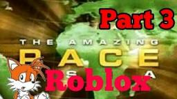 The Amazing roblox race #3 I cant taping fast and im worst captain