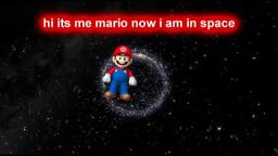 mario goes to space