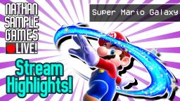 SUPER MARIO GALAXY [TWITCH STREAM] HIGHLIGHTS (WII) #2 │NATHAN SAMPLE GAMES