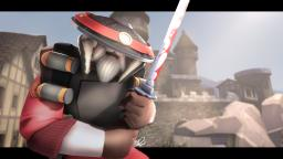 [Gaming] Old Samurai Demoman Fighting In The Medieval Times