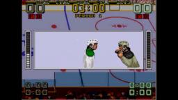 Mario Lemiuex Hockey - Fight - Sega Genesis Gameplay