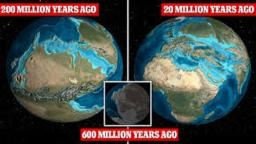 Evolution of the Earth - Million of  years ago to million of years in the future - History