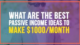 EARN $1000 PASSIVE INCOME WITH THIS ONE SIMPLE TRICK!