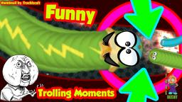 WORMATE.IO: [FUNNY TROLLING MOMENTS] THE IMPOSSIBLE WORM VS 3000 TINY WORMS