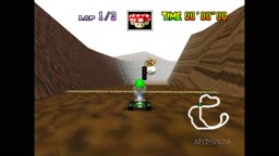 Mario Kart 64 | Choco Mountain 15050 (NTSC-J, Sixtyforce Test)