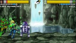 Cell (Imperfect) Vs Luke Skywalker - MUGEN AI Matches