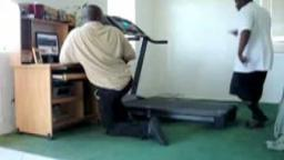 guy falling off a treadmill