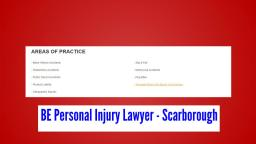 Injury Lawyer Scarborough - BE Personal Injury Lawyer 416-477-6844