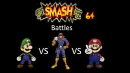 Super Smash Bros 64 Battles #77: Luigi vs Captain Falcon vs Mario