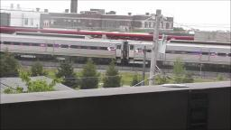 AMTRAK TRAIN GOING THROUGH PHILADELPHIA