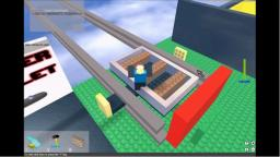 Playing roblox thrillville