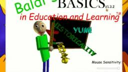 Playing Baldis basics & education and learning