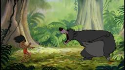 Baloo Teaching Mowgli how to Roar like Godzilla 1