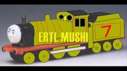 Tamlin, Charlie the Rainbow Brake Van, Michael, Albert, and Mushi in Thomas Merchandise Art