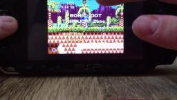 Sonic the Hedgehog CD on PSP-1000 (Test)