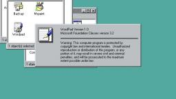 Opening Wordpad in windows 95 while listening to Midi