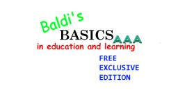 Baldis Basics - Free Exclusive Edition: Triple A