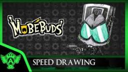 Speed Drawing: MobéBuds Agent Shapey (Concept 1) | Mr. A.T. Andrei Thomas