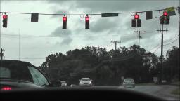 DOGHOUSE STYLE TRAFFIC LIGHT IN MOORESVILLE NORTH CAROLINA VIDEO #1