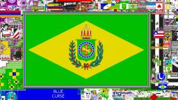 pixel canvas being conquered by the Brazilian empire