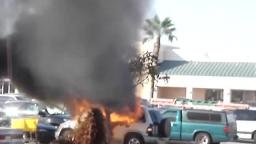 car fire at wal mart [June 24th, 2008]