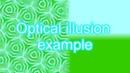 Optical illusion example