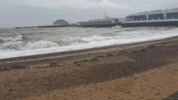 Waves at Clacton On Sea Essex Beach today weather share video part 1 2 November 2019