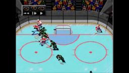 NHLPA 93 - Puck Flips In - Sega Genesis Gameplay