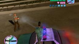 GTA Vice City Police Cop stuck in a Bridget