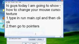 How to change cursor on Windows XP