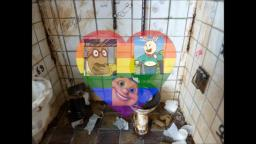 BUSTER BAXTER FOUL FECES INGESTION THREESOME IN A CONTAMINATED BATHROOM GAY XXX