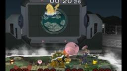 SSBM: Super Sudden Death: Captain Falcon VS Kirby VS Pikachu VS Bowser