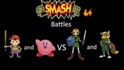 Super Smash Bros 64 Battles #51: Ness and Kirby vs Link and Fox