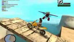 GTA San Andreas - Huge Plane Crash Into Bike