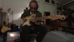 Tony Rombola on guitar, Bob on Slide - Blues are Fallin From the Sky - Slide guitar amp tone demo