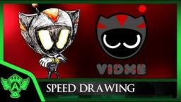 Speed Drawing: Dark Astro (Vidme OC) | Mr. A.T. Andrei Thomas 2018 V