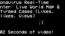 Coronavirus Real-Time Counter: Live World Map & Confirmed Cases (Likes, Dislikes, Views)