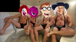 The Barney Bunch goes to a bath house