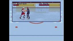 NHL All-Star Hockey 95 - Fight - Sega Genesis Gameplay