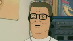 hank hill finds out his son is watching moe shit