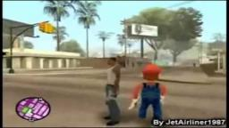 Loquendo - Carl Johnson CJ y Mario Bros vs Ballas Y Vagos (GTA San Andreas)
