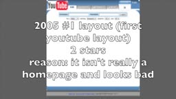 11 youtube layouts rated by me with stars
