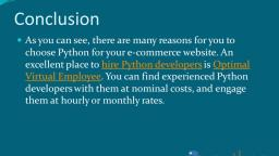 Why Python is a good option for e-commerce