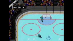 NHLPA 93 - Puck Bounce - Sega Genesis Gameplay