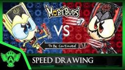 Speed Drawing- MobeBuds Bulkey VS Granapire To Be Continue Meme| Mr. A.T. Andrei Thomas